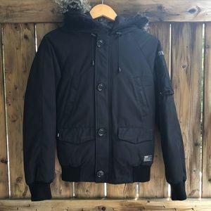 TNA black winter bomber jacket xxs